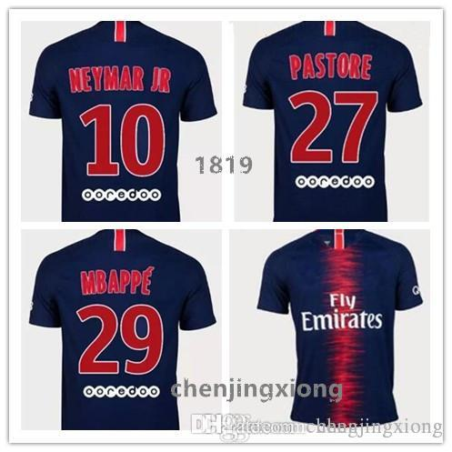 26e0ce53ada 2018 MBAPPE NEYMAR JR Soccer Jerseys AA Quality18 19 CAVANI DANI ...
