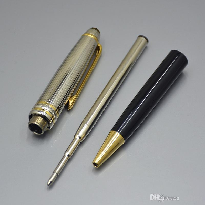 wholesale price Meisterstckk 163 black and Silver Ag925 ballpoint pen administrative office stationery luxury Write refill pens gift