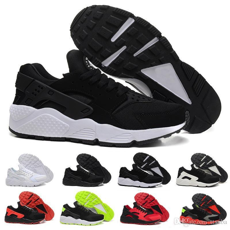 free shipping e2c94 48746 Acquista 2017 Nike Air Huarache 1 2 3 I II III Nuovi Air Huarache I Scarpe  Da Corsa Uomo Donna, Bianco Nero Oro Rosa Sneakers Triple Huaraches 1 Scarpe  Da ...