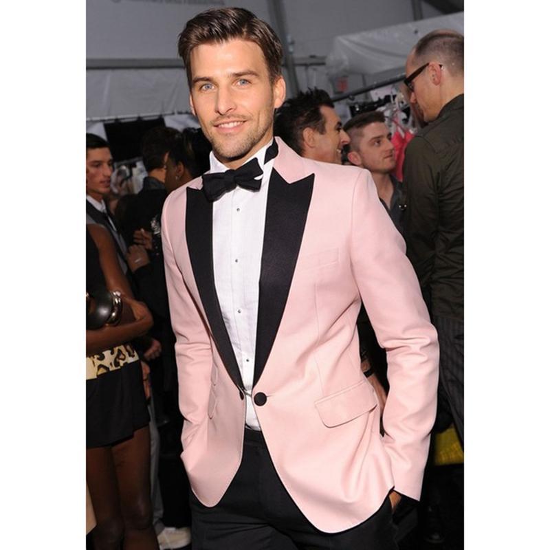 2018 2017 Smoke Terno Slim Fit Wedding Suits Tuxedo Prom Pink Styles ...