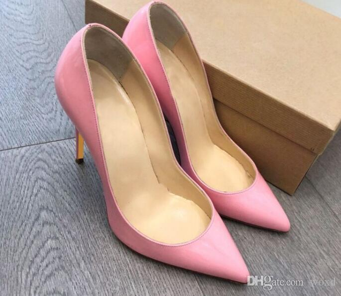05ac8e87492b 2018 Red Bottom Pump Patent Leather Suede Pigalle Heels WOMEN ...