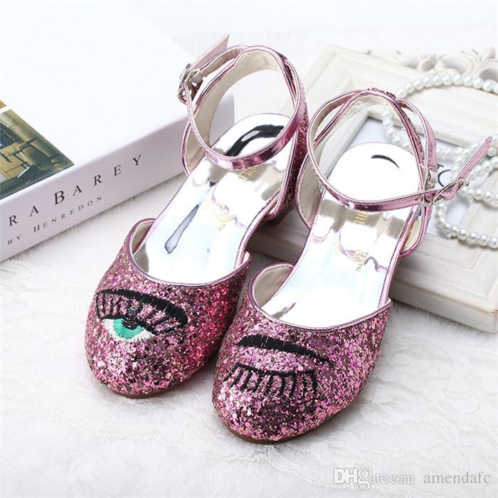 b60466ff8681 2018 Tide Children s Sandals Ice Edge Crystal Shoes New Product ...