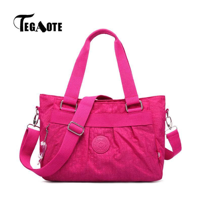TEGAOTE Top-handle Bag for Women Shoulder Bags Nylon Dames Handbag Totes  for Shopping Travel Bolsa Feminina Satchel 2018 Shoulder Bags Cheap Shoulder  Bags ... 588a5ae0ef
