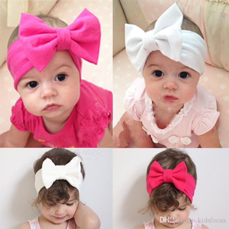 baby kids girls child toddler infant flower floral bow hairband turban knot headband headwear hair band accessories