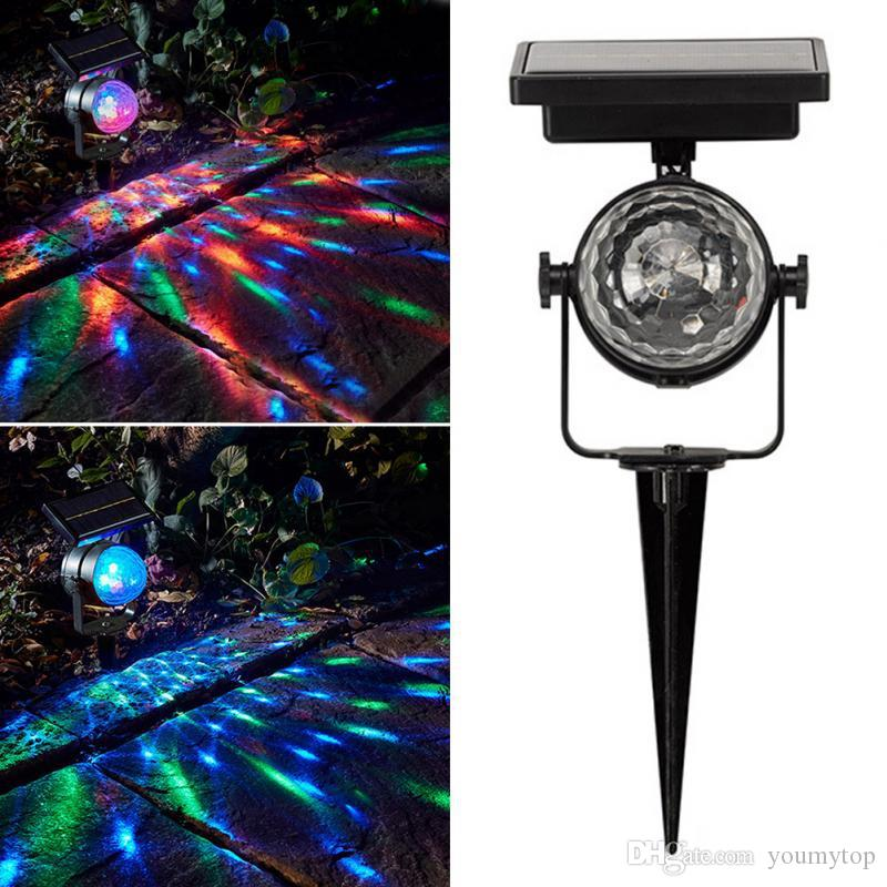 2018 New Christmas Light Solar Projection Lamp Rotatable Colorful Lawn Solar Powered Light Outdoor LED Mixing Color Durable Christmas Party