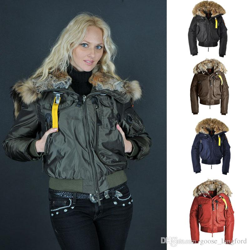 Winter -40 Degrees Warmth Parajumpers Luxury Gobi Women's Down Jacket Hoodies Fur Fashionable Winter Coats for Women Warm Parka DHL Free Parajumpers Women ...