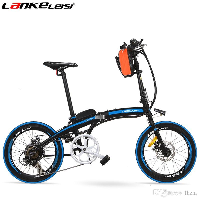 "QF600 Portable 20"" Quick-Folding Electric Bicycle, 240W 36V 15Ah, Aluminum Alloy Frame, Folding Pedal, Disc Brakes"