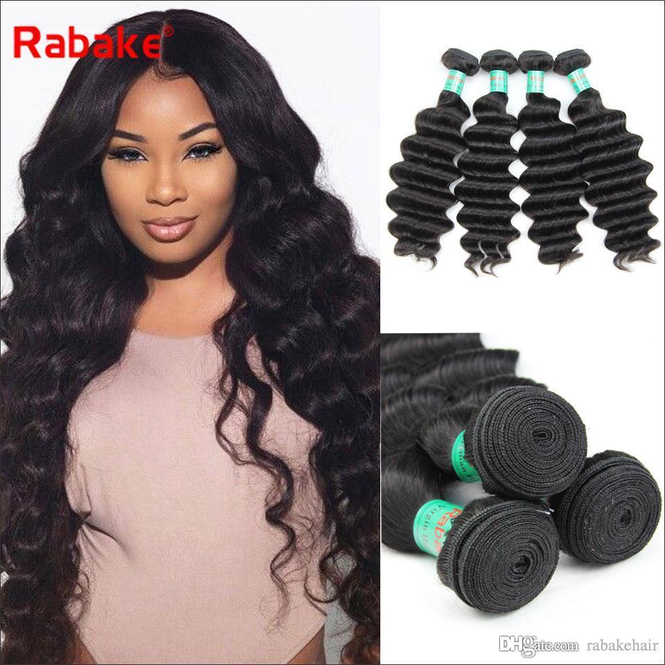 3 Loose Deep Raw Indian Virgin Human Hair Weave Bundles Malaysian Peruvian Brazilian  Human Hair Extensions Natural Black For Women Best Hair Weaves Best ... 2265b6a42b