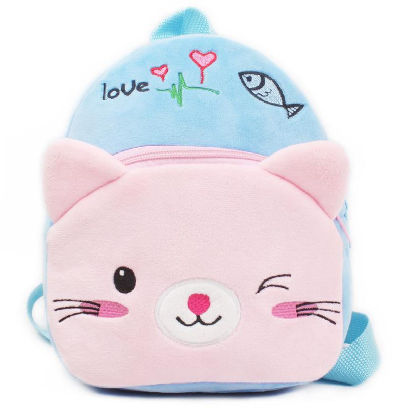Cute Cartoon Plush Children Backpacks Girl Mini Kids Boy School Bags Baby School Bag Kindergarten Infant Backpacks Gift for Kids