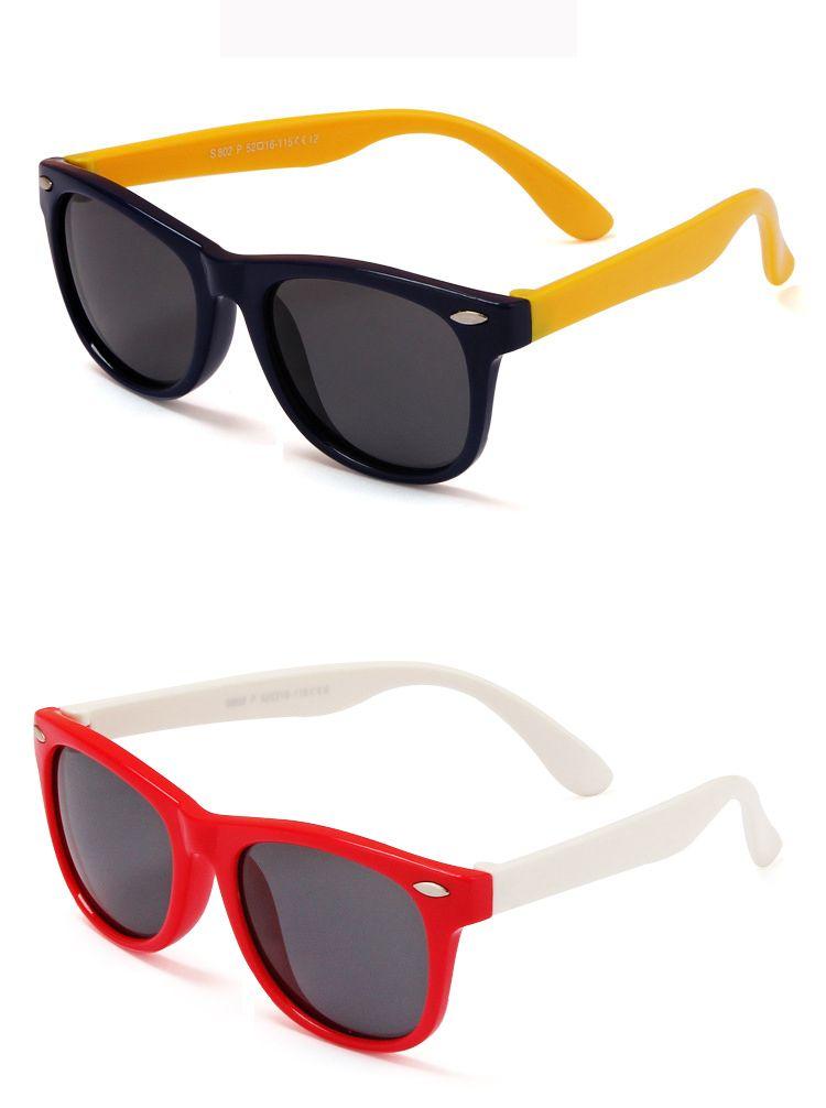 MOQ=rubber frame New Children TAC Polarized Sunglasses Kids Designer Shades For Girls Boys Goggle Baby Glasses retro eyewear