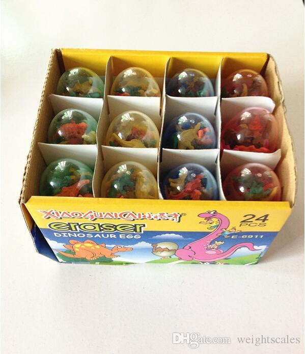 Cartoon Dinosaur Egg Eraser Erasers MINI Rubber colors assorted School Supplies