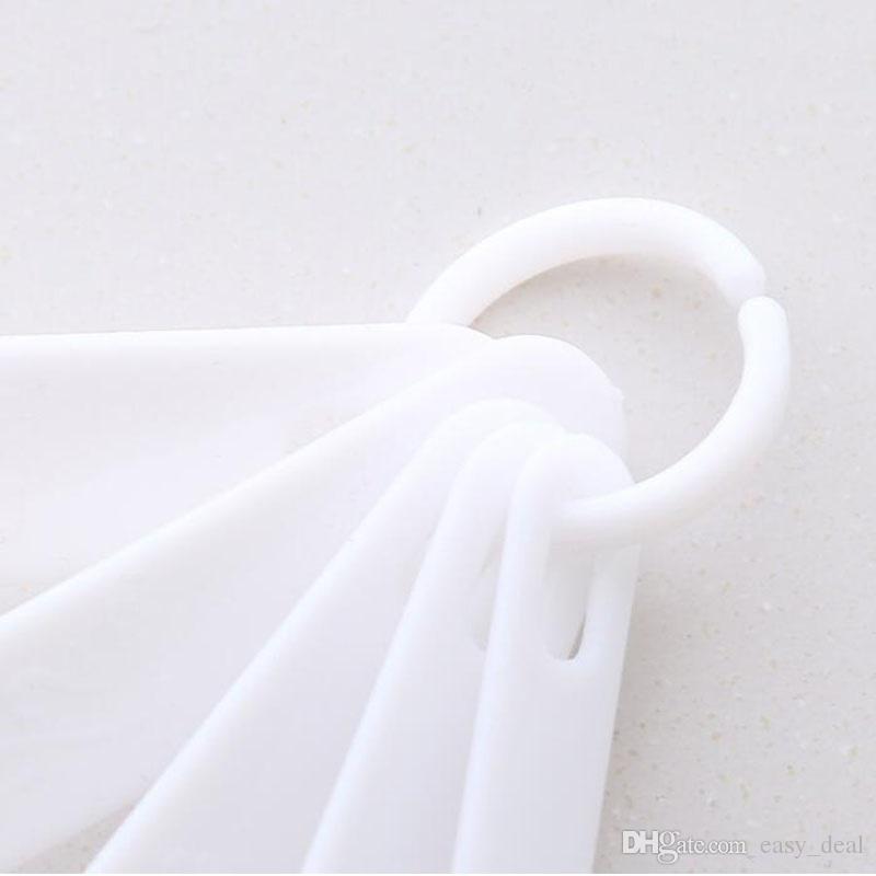 5 unids / set cuchara de medición de plástico conjunto de herramientas de medición de la cocina cucharada de café cucharada de cuchara de cocina utensilio de cocina ZA6157