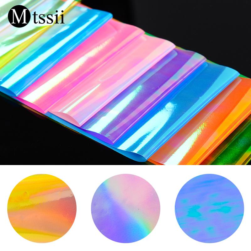 Mtssii 1Set Starry Sky Nail Foils 4*20CM Nail Art Transfer Stickers Decal  Fashion Broken Mirror Glass DIY Tips Decorations