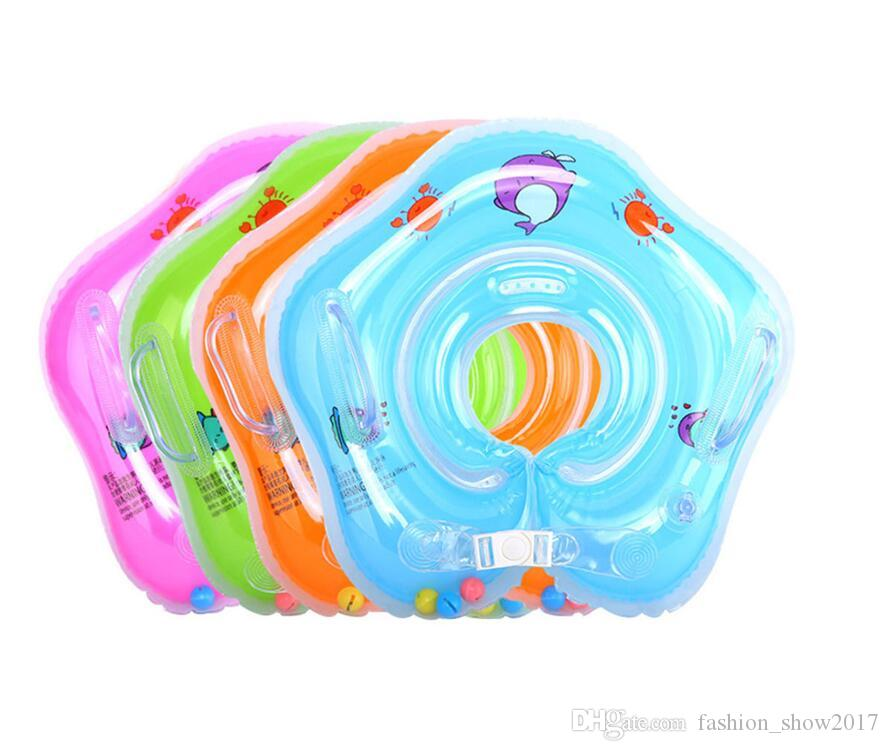 Nueva Inflable Bebé Anillo de Cuello Anillo de Bebé Anillo de Seguridad Infantil Cuello Flotador de Cuello Para Baño Accesorios de Natación