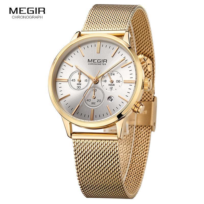 8378235efc0 Compre Megir Relógio Das Mulheres Relógios De Quartzo De Luxo Da Marca De  Moda Senhoras Do Esporte Relógios Relógio Relogio Feminino Para A Menina Do  Sexo ...