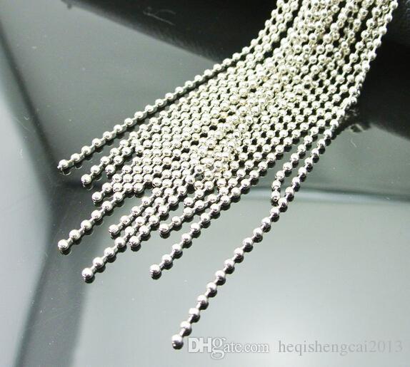 50 см титана стали пополнить цепь мужской женский ожерелье мужская титана стали круглый шарик цепи посеребренные цепи Подходят замороженные Pend