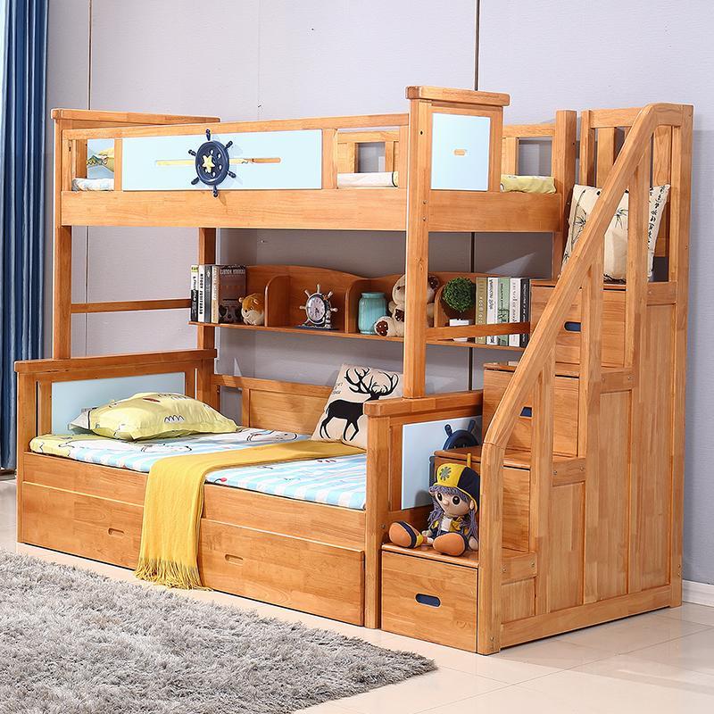 gro handel moderne minimalistische kinderbettkombination importiert gummiholz mit hohem und. Black Bedroom Furniture Sets. Home Design Ideas