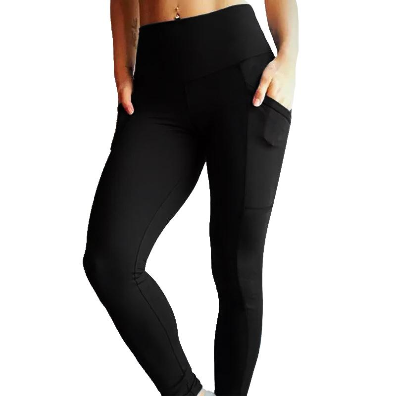 Sexy Yoga Pants Women Pocket Slim Pant Female Elastic Breathable Sports Wear Solid Color Tights For Running Fitness Gym Leggings