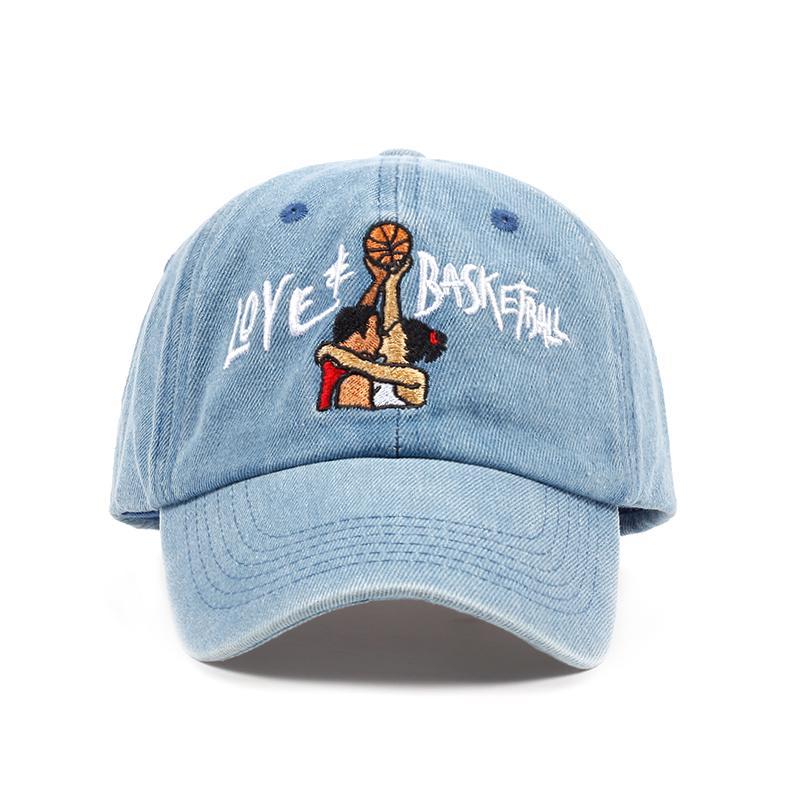 New Cotton Dad Hats Love   Basketball Embroid Gorras Snapback Sky Blue  Black Baseball Cap Movie OG 90s Vtg Hip Hop Summer Hat Flexfit Cap Ny Caps  From ... 1d5d4954f6e