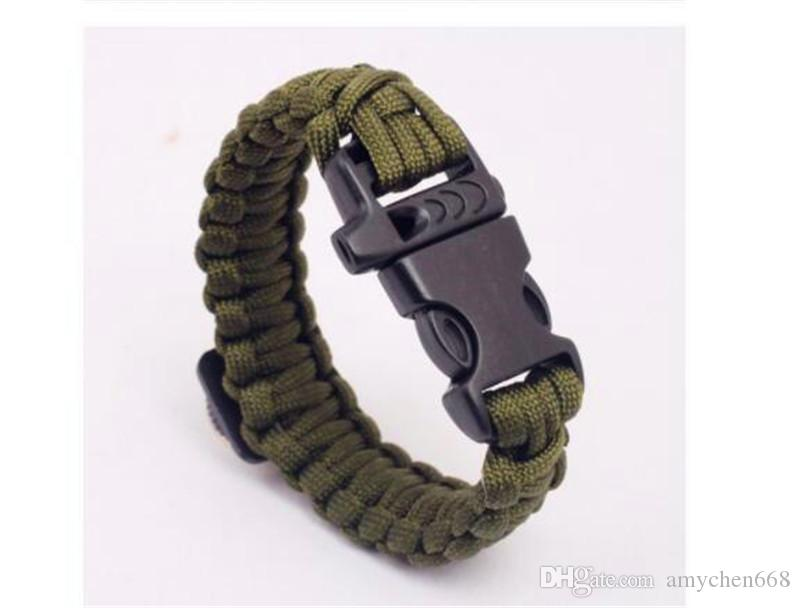 Paracord Wristband Decoration Survival Bracelets Paracord Bracelet Hiking Camping Travel Outdoors Gear Rope 23 cm Skull