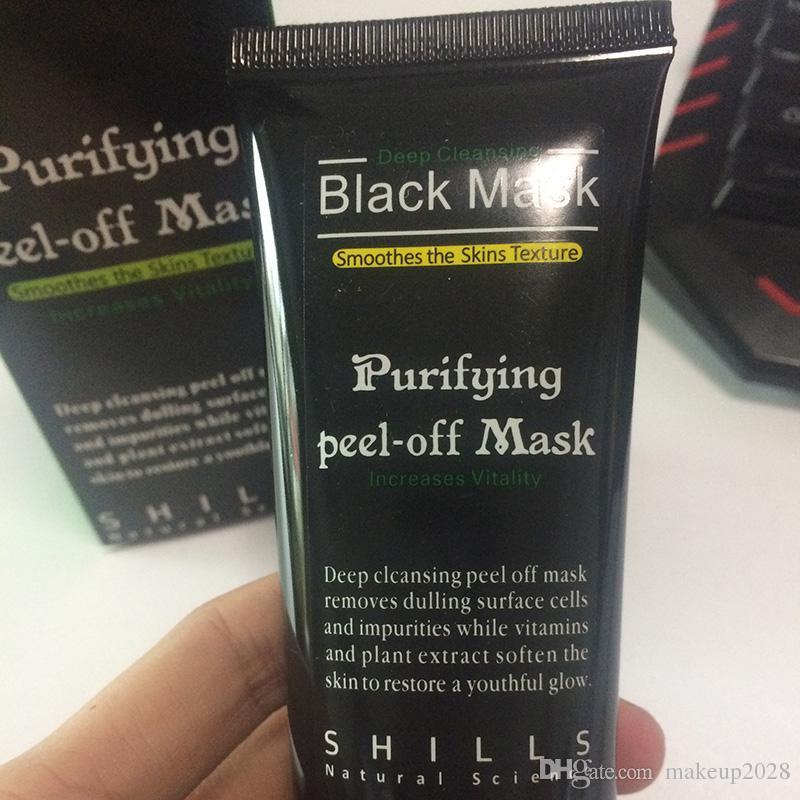 Nero aspirazione Mask Anti-Aging 50ml SHILLS in profondità che puliscono Purificante Staccare Viso Black Mask Rimuovere comedone Peel Maschere 241