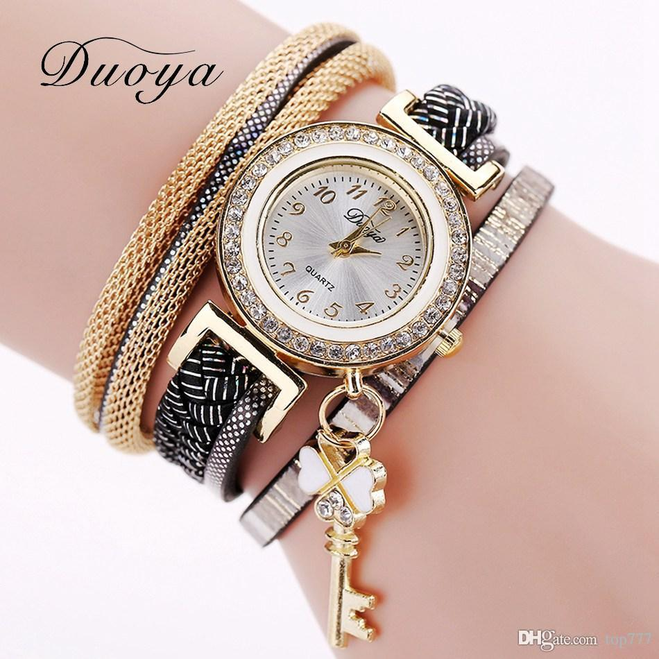 watches chain shaped golden product price raga buy for gold watch women titan at online analog best india teardrop