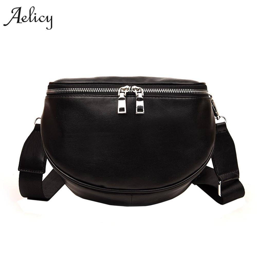 4cea3618396b Wholesale Luxury Crossbody Bag for Women PU Leather Unisex Shoulder Chest  Bag Large Capacity Ladies Handbag Zipper Fanny Waist Pack Online with   31.99 Piece ...