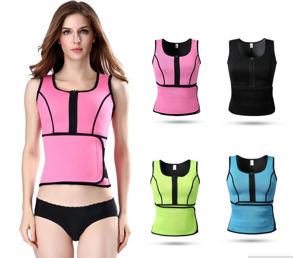 3831b0ceba 2019 Wholesale Neoprene Sauna Waist Trainer Vest Hot Shaper Summer Workout  Shaperwear Slimming Adjustable Sweat Belt Fajas Body Shaper From Meinuo003
