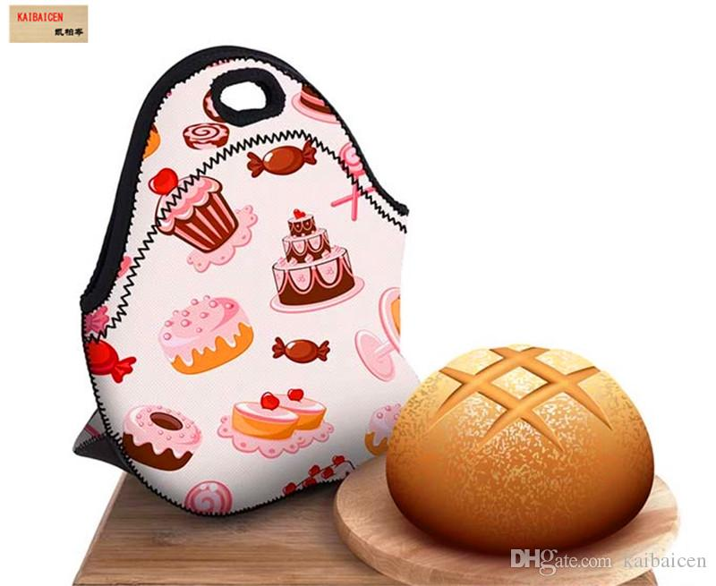 Fashion DIY Sublimation Blank lunch box bag For Heat Transfer printing lunch bag materials
