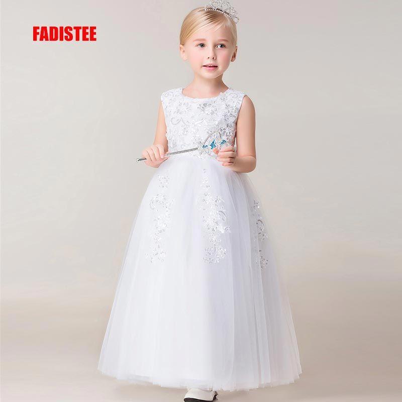 Wholesale New Arrival Pretty Flower Girl Dresses Appliques Lace