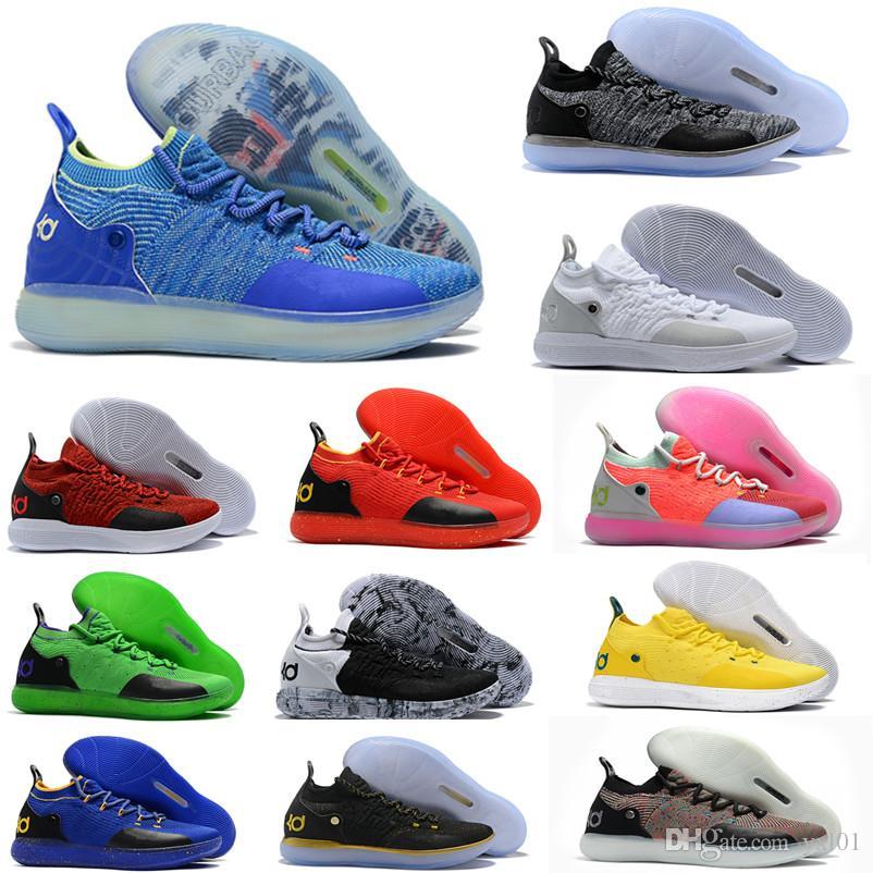more photos 083b4 f3ceb Compre 2018 Nueva Llegada KD XI 11 Oreo Paranoid Deportes Baloncesto Zapatos  De Calidad Superior Kevin Durant 11s Mens Trainers Diseñador KD11 Sneakers  ...