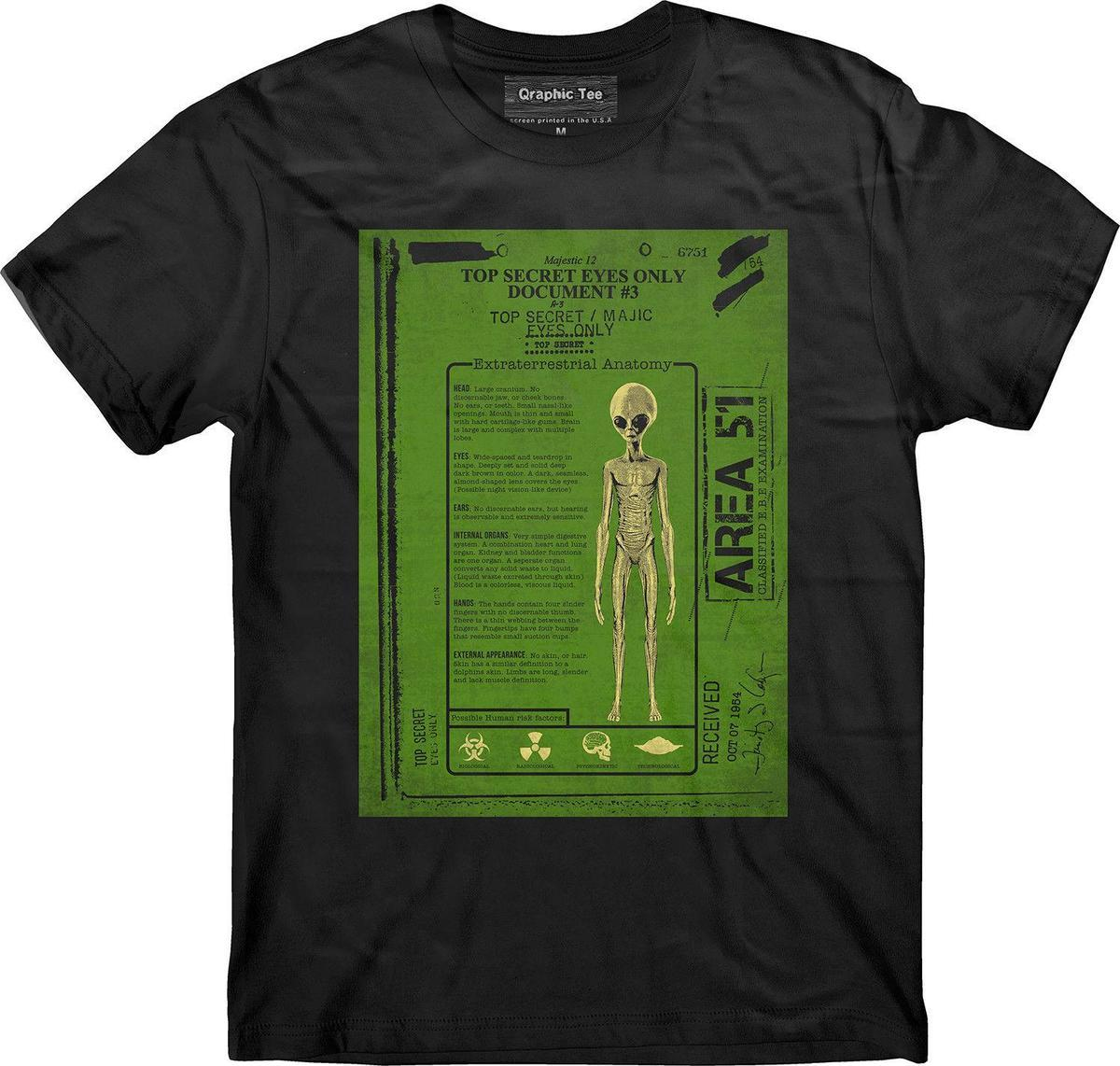 Area 51 T Shirt Alien Anatomy T Shirt Property Of Area 51 Nevada