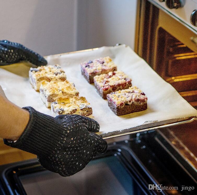 Luvas de Silicone PARA CHURRASCO Isolado Cozinha Luva Resistente Ao Calor Forno Pote Titular CHURRASCO De Cozimento Cozinhar n2 Mitts Cinco Dedos Anti Deslizamento vendido por pcs