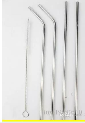 30oz and 20oz Wholesale Stainless Steel Straw reusable drinking straw straight and bend drinking tool silicone straw more different size