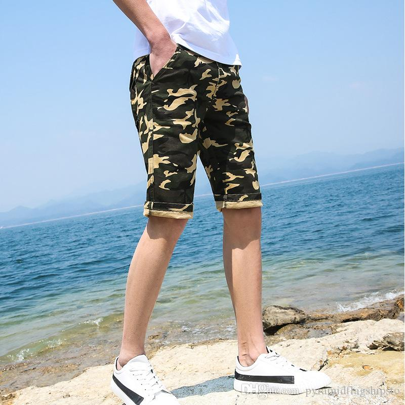 7e6247a5853 Men Camouflage Cargo Shorts 2018 New Brand Male Army Loose Cargo Pants Men  Casual Work Short Pants Plus Size 28-38 Online with  36.58 Piece on ...