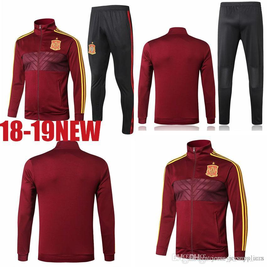 75801fa5a AA+ 18 World Cup Spain Football Jacket Long Soccer Training Suit Kit ...
