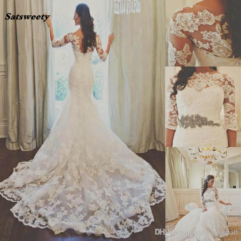 37522f258d9 Cheap Sweetheart Mermaid Fishtail Wedding Dress Discount Plus Size Keyhole Wedding  Dresses