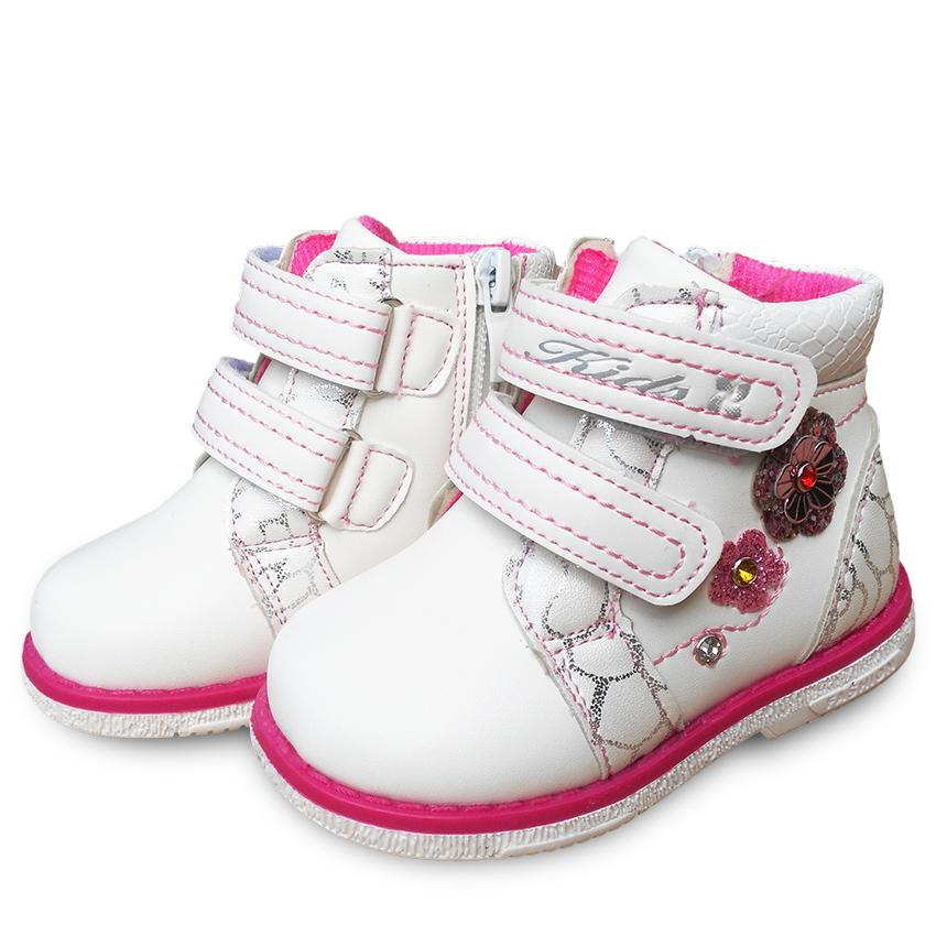 fashion boot 1pair PU Leather sneaker Fashion Children shoes, inner 13.5-17cm, Kids Flower girl Shoes