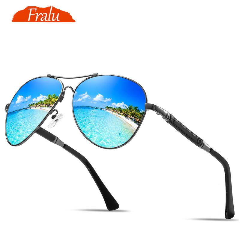 4bec24571f Compre FRALU Nuevos Hombres Vintage Aluminio HD Gafas De Sol Polarizadas  Marca Clásica Gafas De Sol Capa De Lente Conducir Tonos Para Hombres / Wome  A ...