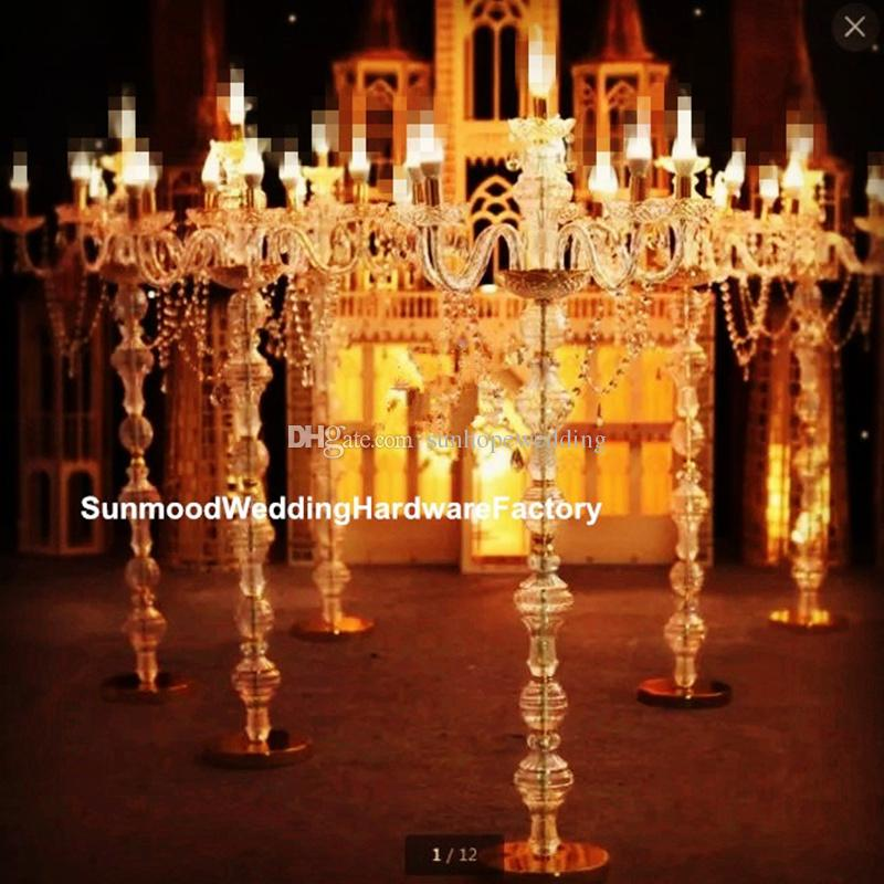 no light and candle inludingcrystal clear candle holder, wholesale hanging acrylic crystal bead candle holder