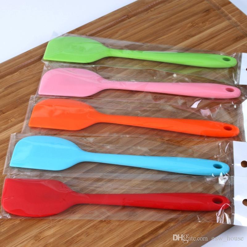 Новый силиконовый шпатель крем / масло скребок антипригарным резиновый торт шпатель для приготовления выпечки жаропрочных мыть в посудомоечной машине выпекать инструменты