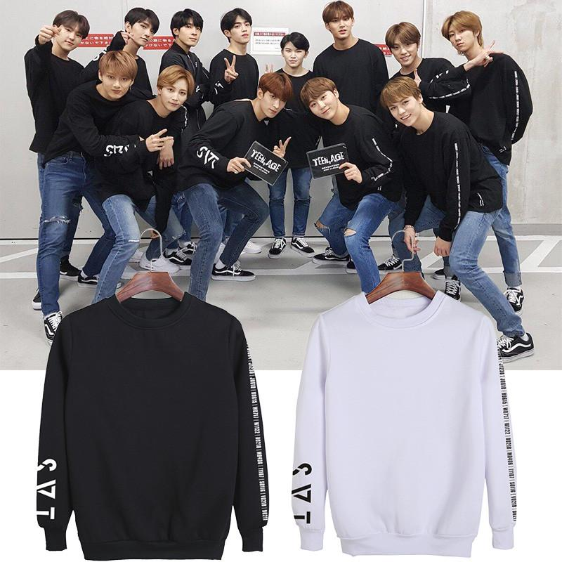 KPOP Korean Fashion SEVENTEEN 2018 JAPAN ARENA SVT Concert O-Neck Cotton  Hoodies Pullovers Sweatshirts PT709