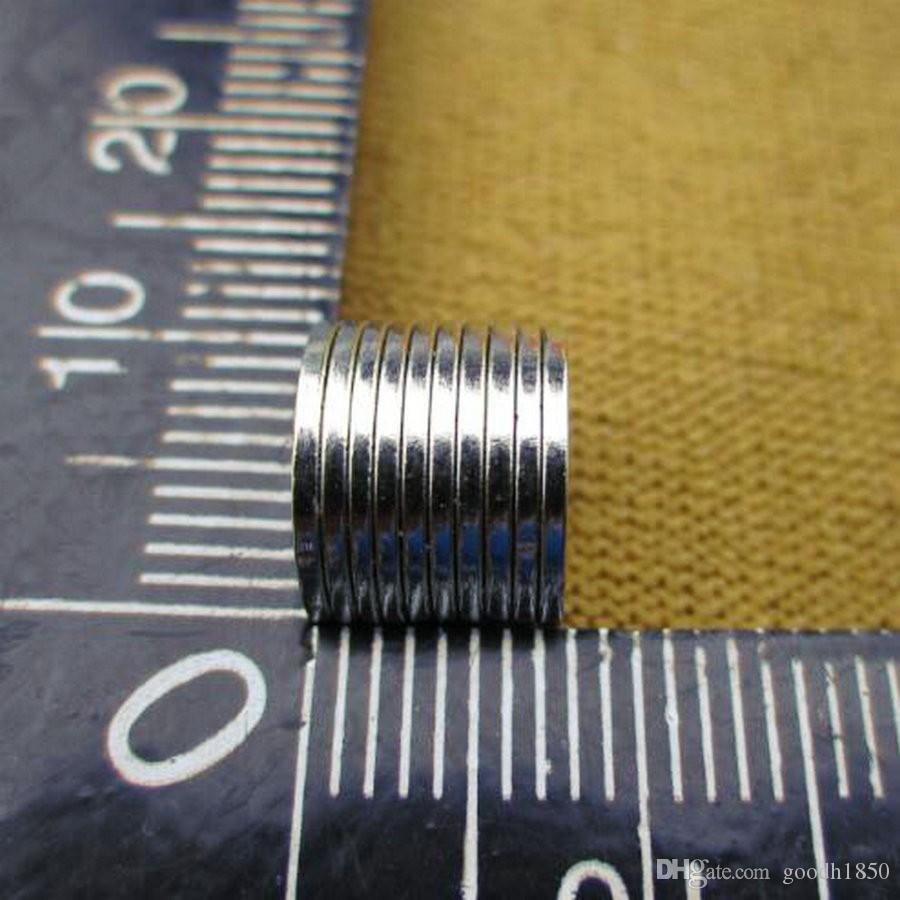 Magneti rotondi all'ingrosso N50 Super Strong 10mm, formato Dia10mm, 1mm di spessore, magnete industriale, magnete quotidiano,