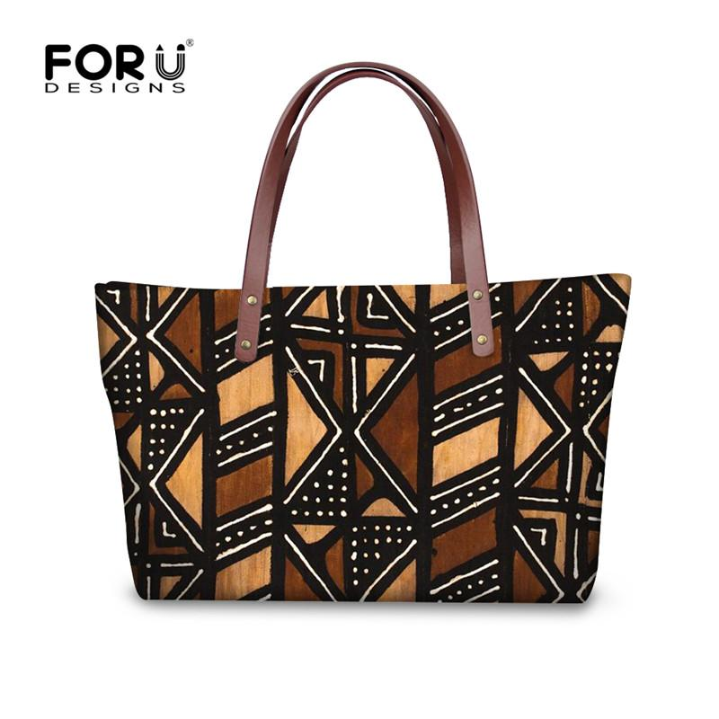 e8e6b79022a6 FORUDESIGNS Vintage African Printed Women S Handbags Luxury Top Handle Bags  For Women 2018 Tote Shoulder Bag Female Bolsos Mujer Briefcase Leather  Backpack ...
