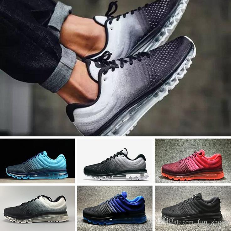 purchase cheap 718fc e9d69 Acheter 2017 Nike Air Max 2017 Designer Shoes Nouveau 2018 KPU II Prix  Discount Hommes Femmes Chaussures De Course Avec La Qualité Supérieure Mode  Sneakers ...