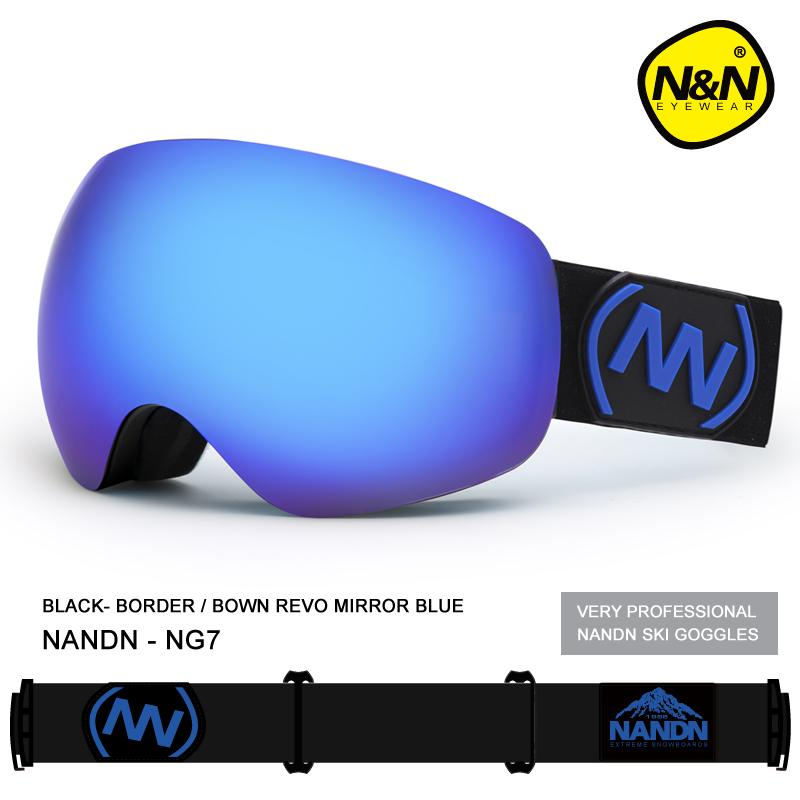 2d06308fce4 Brand NANDN UV400 Anti Fog Ski Goggles Double Lens Big Spherical ...
