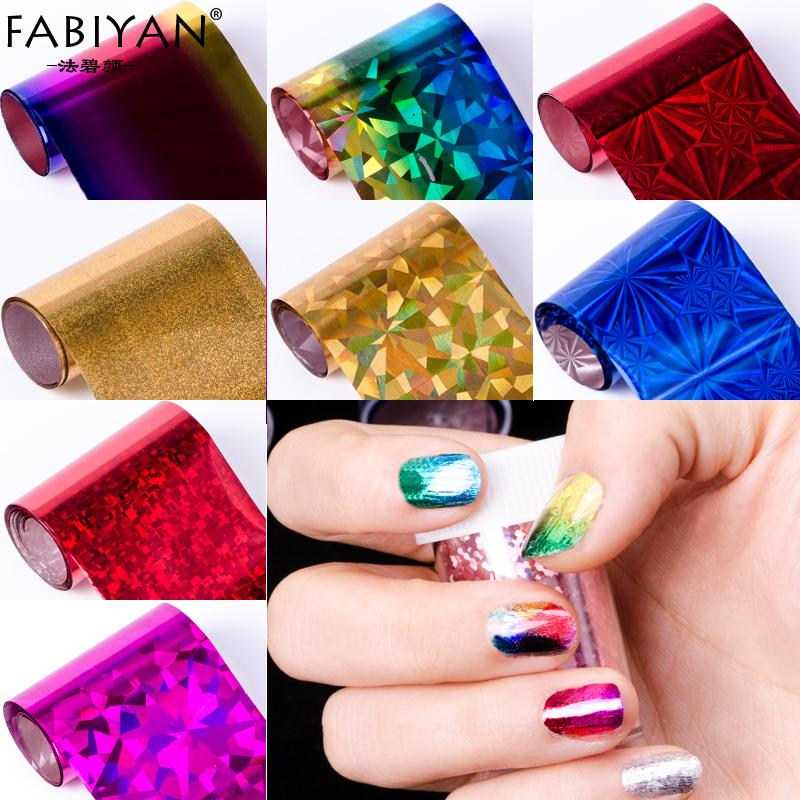 Design 100cm*4cm Nail Art Supplies Transfer Foil Tips Stickers ...