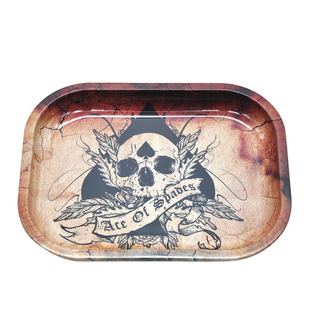 Wholesale Metal Tobacco Rolling Tray 17*13*1.8cm Metal Tobacco Herb Hand Roller Smoking Pipe Cigarette Rolling Cone Maker Herb Storage Case