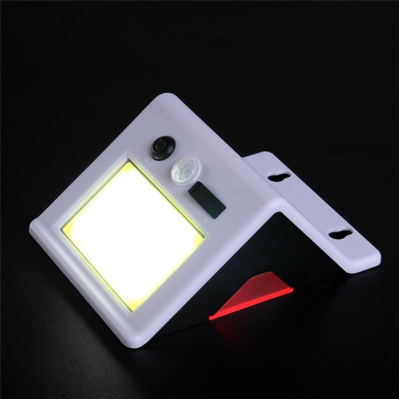 COB 24 LED Solar Light USB Solar ricaricabile Outdoor Solar Light Impermeabile PIR Motion Sensor Wall Light Security Decor