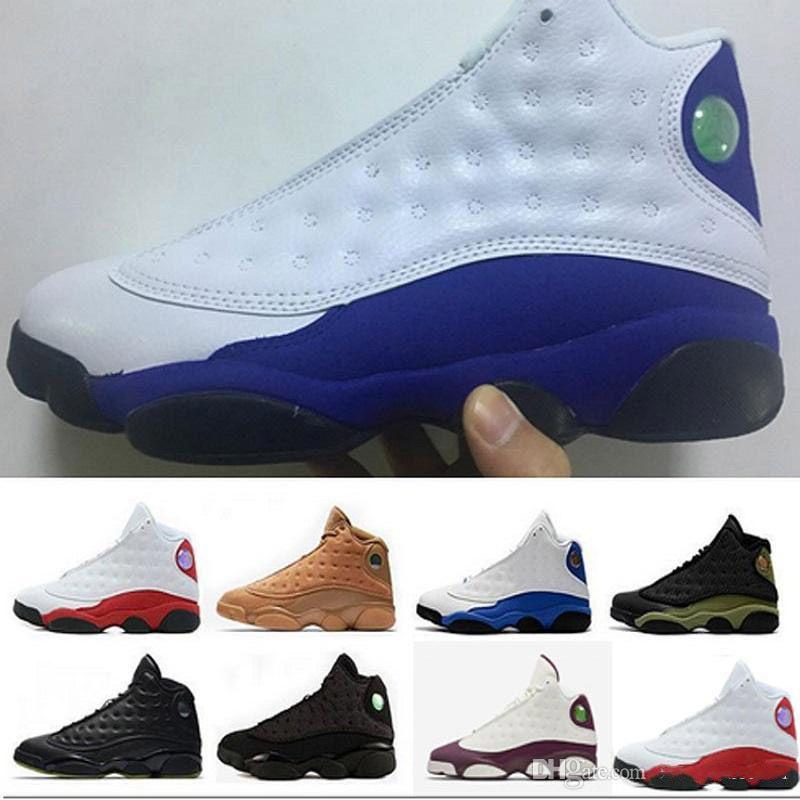 1b981827e994 Fashion 2018 J13 Man Hyper Royal Basketball Sneaker Olive Bred Chicago  Flint Altitude 13s Sneakers Love   Respect Sport Training Men Shoe Kevin  Durant ...